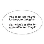LOST IN YOUR THOUGHTS Oval Sticker (10 pk)