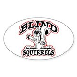 Blind Squirrel Oval Decal