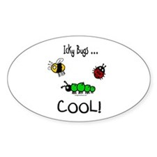 icky bugs ...COOL Oval Decal