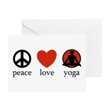 Peace Love Yoga Greeting Cards (Pk of 10)