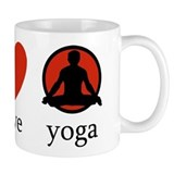 Peace Love Yoga Small Mug