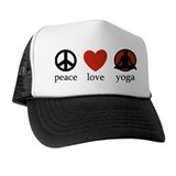Peace Love Yoga Hat