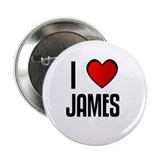 I LOVE JAMES 2.25&quot; Button (100 pack)