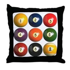 Cute 9 ball Throw Pillow