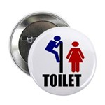 "Toilet Peek 2.25"" Button (100 pack)"