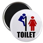 "Toilet Peek 2.25"" Magnet (100 pack)"