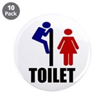 "Toilet Peek 3.5"" Button (10 pack)"