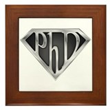 Super PhD - metal Framed Tile