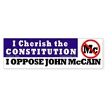 Cherish Constitution, Oppose McCain Sticker
