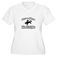 """Save Horse, Ride Firefighter T-Shirt"