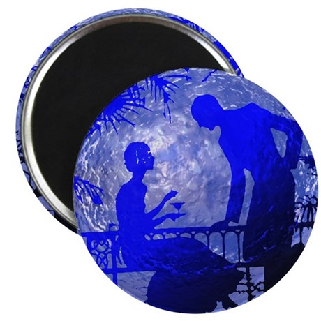 "Blue Moon Lovers 2.25"" Magnet (100 pack)"