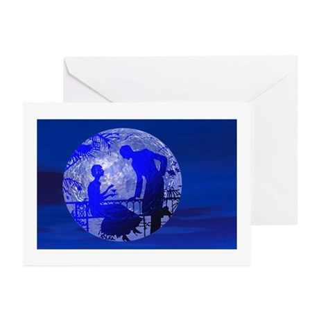 Blue Moon Lovers Greeting Cards (Pk of 10)