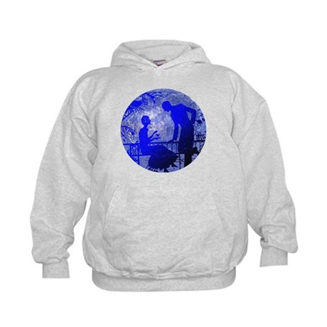 Blue Moon Lovers Kids Hoodie