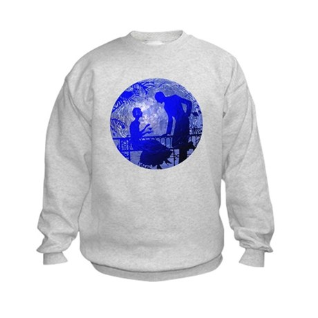 Blue Moon Lovers Kids Sweatshirt