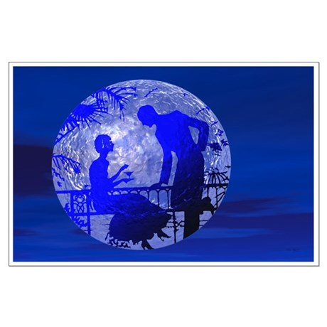 Blue Moon Lovers Large Poster