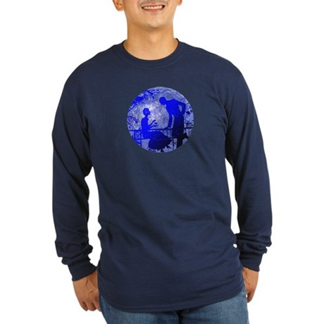 Blue Moon Lovers Long Sleeve Dark T-Shirt
