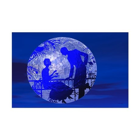 Blue Moon Lovers Mini Poster Print
