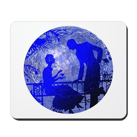 Blue Moon Lovers Mousepad