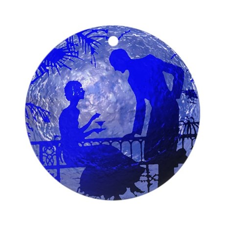 Blue Moon Lovers Ornament (Round)