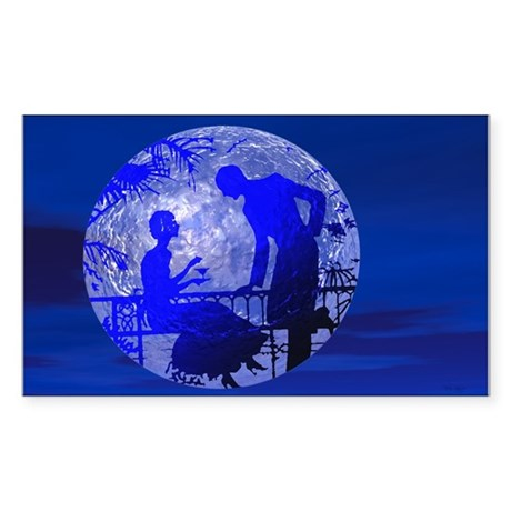 Blue Moon Lovers Rectangle Sticker