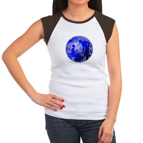 Blue Moon Lovers Women's Cap Sleeve T-Shirt