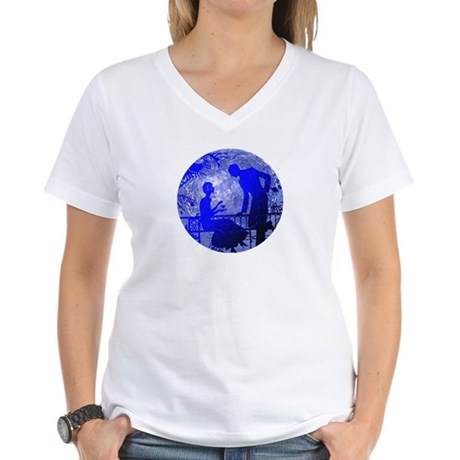 Blue Moon Lovers Women's V-Neck T-Shirt