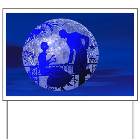 Blue Moon Lovers Yard Sign