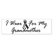 I Wear Black For My Grandmother 1 Bumper Sticker