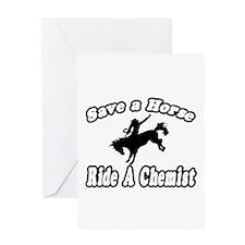 """Save Horse, Ride Chemist"" Greeting Card"
