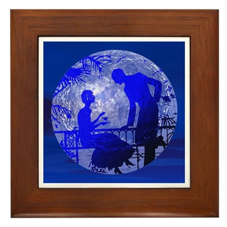 Blue Moon Lovers Framed Tile