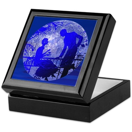 Blue Moon Lovers Keepsake Box