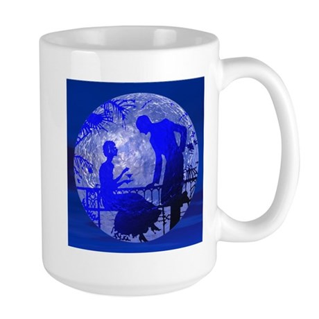 Blue Moon Lovers Large Mug
