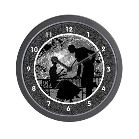 Black and White Moon Lovers Clocks Wall Clock