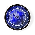 Blue Moon Lovers Clocks Wall Clock