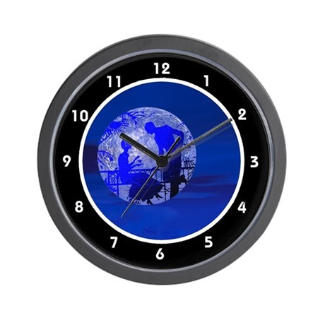 Blue Moon Lovers Clocks Wall Clock