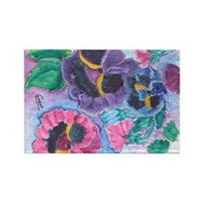 PANSY GARDEN Rectangle Magnet (100 pack)