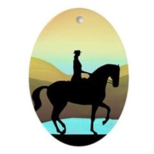 Dressage By The Sea Oval Ornament