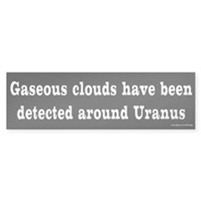 Gaseous Clouds Around Uranus Bumper Car Sticker