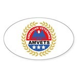 American Veterans for Vets Oval Sticker