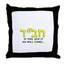 JEW IT Throw Pillow