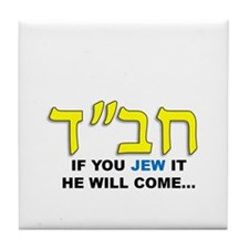 JEW IT Tile Coaster