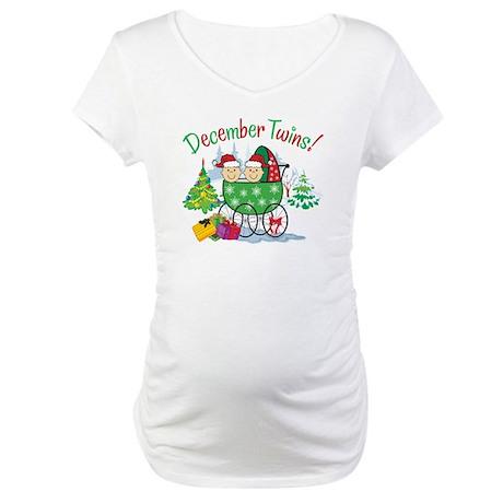 December Twins Maternity Shirt