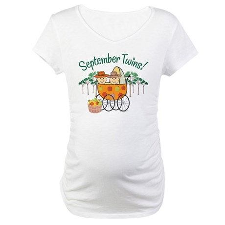 SEPTEMBER TWINS! Maternity T-Shirt