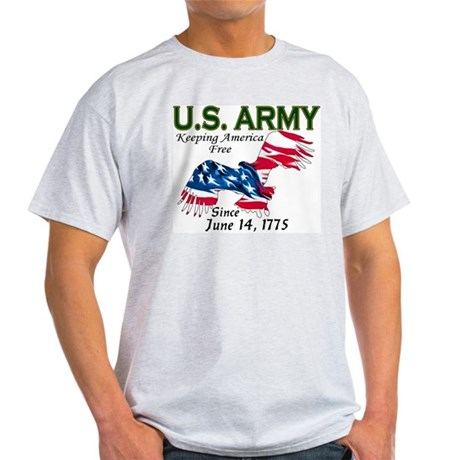 Army Keeping America Free Ash Grey T-Shirt