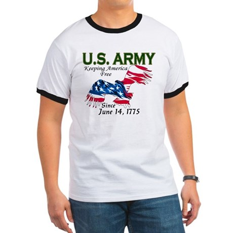 Army Keeping America Free Ringer T