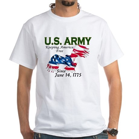 Army Keeping America Free White T-Shirt