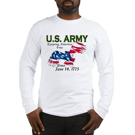 Army Keeping America Free Long Sleeve T-Shirt