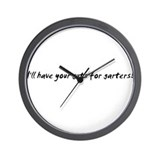 I'll have your guts for garte Wall Clock