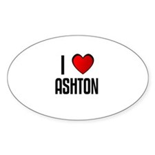 I LOVE ASHTON Oval Decal