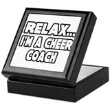 &quot;Relax...Cheer Coach&quot; Keepsake Box